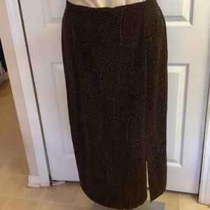 EUC FASHION BUG ANIMAL PRINT MAXI SKIRT SIZE 18/20